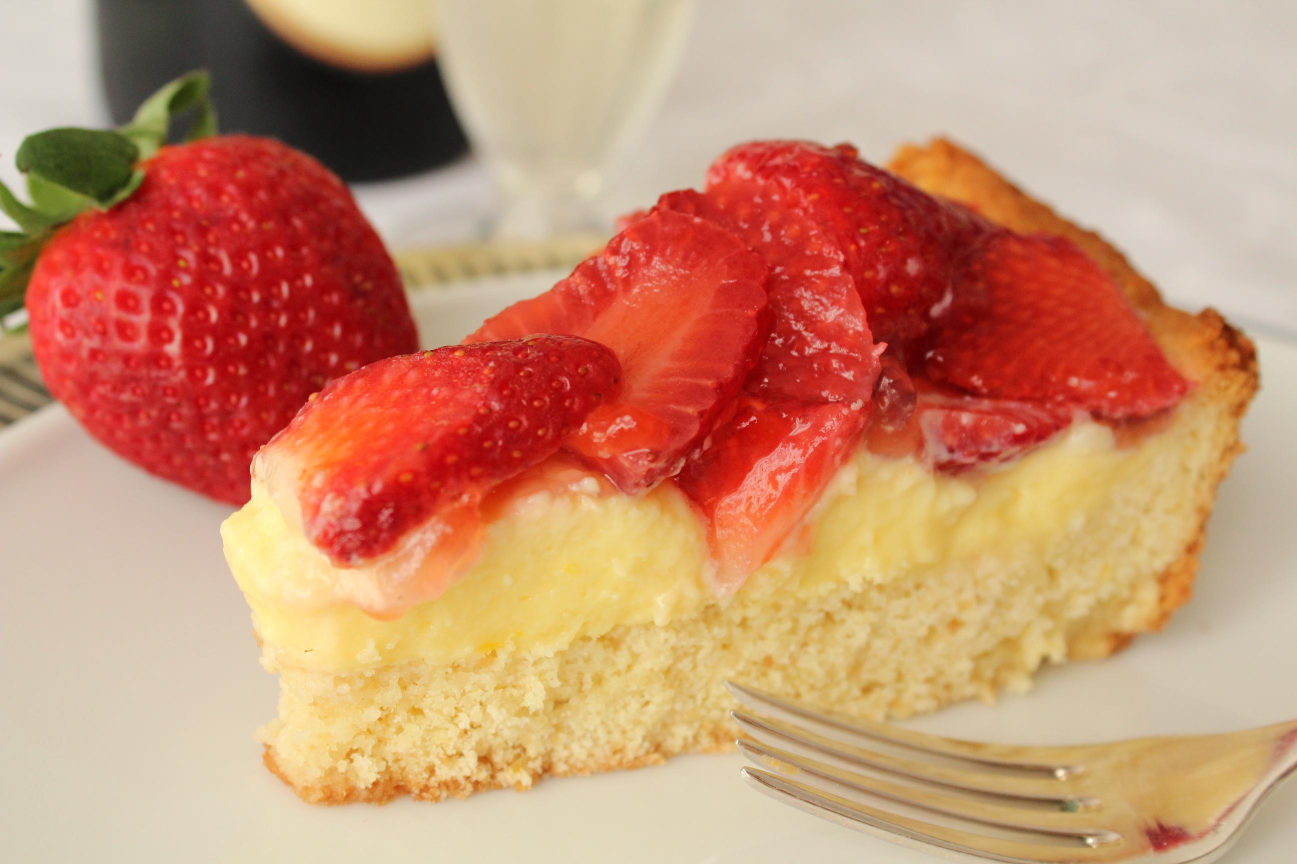 Torta fragole fetta