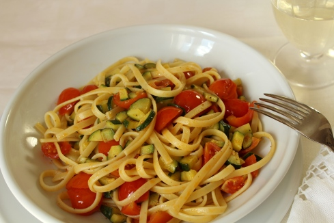Linguine con Zucchine e