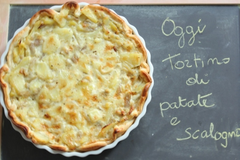 tortino patate e scalogno